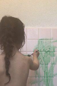 お風呂お絵描き