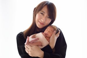 家族写真 名古屋で撮影したニューボーンフォト